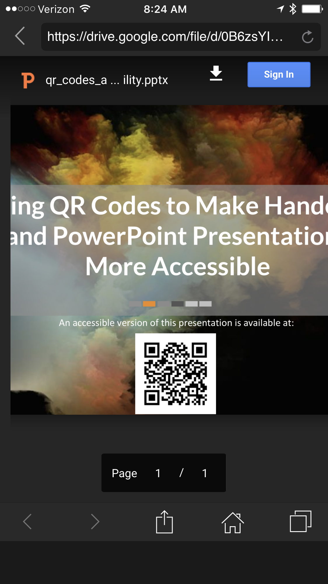 Using QR Codes to Make Presentation Materials More